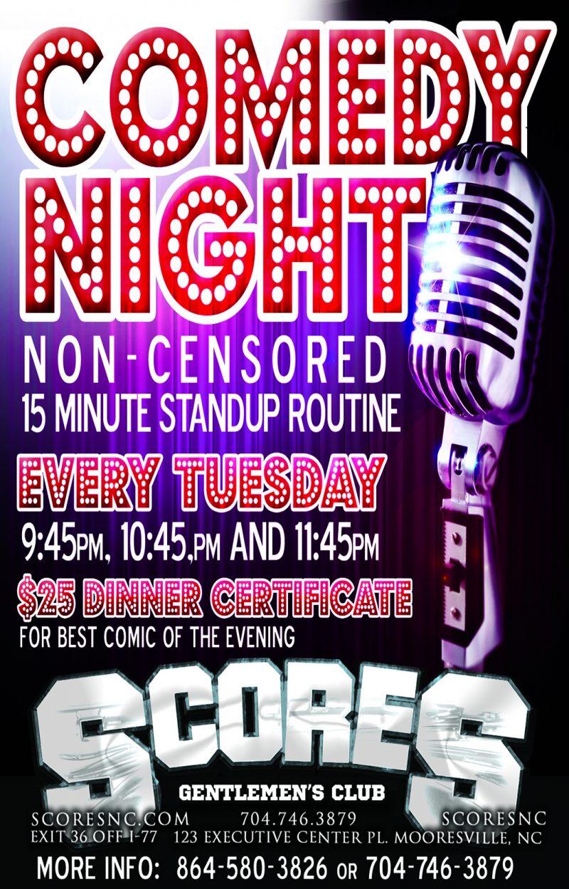 Comedy Night @ SCORES Gentlemen's Club