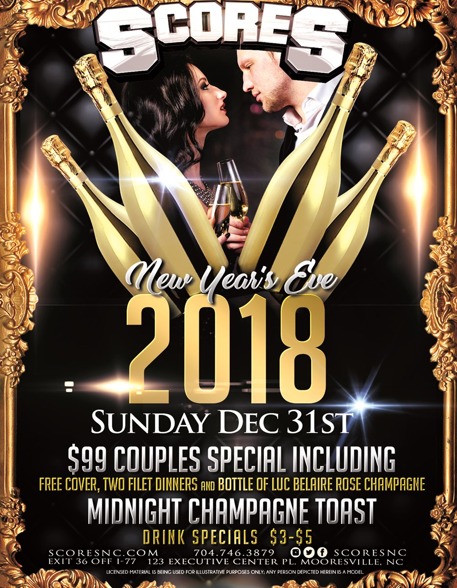 New Year's Eve @ SCORES Gentlemen's Club | Mooresville | North Carolina | United States