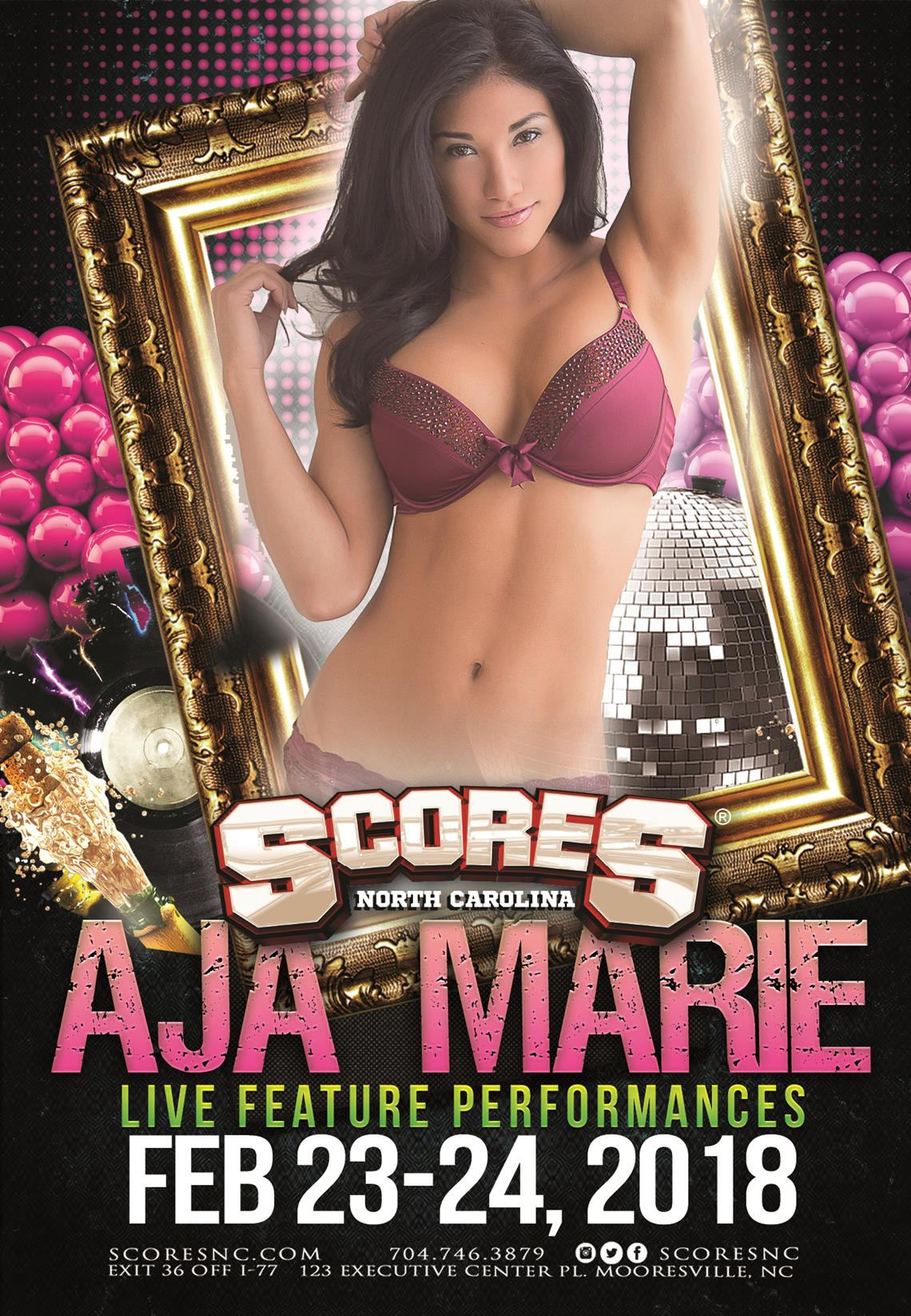 AJA MARIE @ SCORES Gentlemen's Club | Mooresville | North Carolina | United States