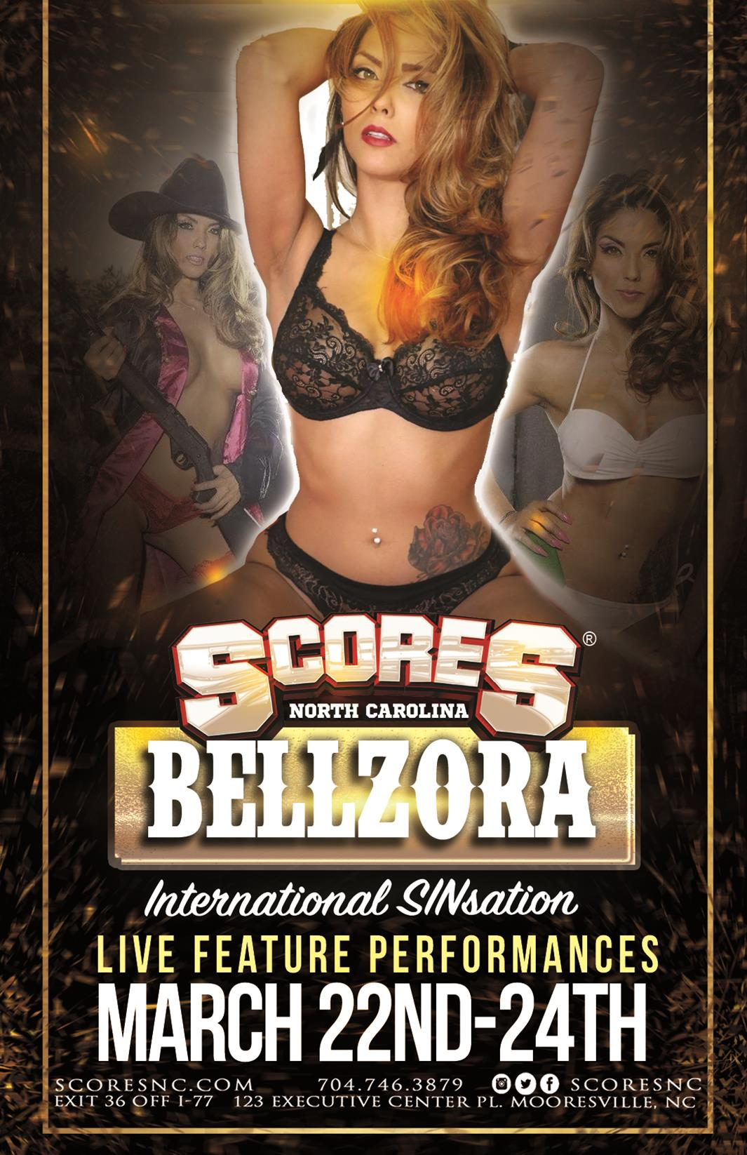 Bellzora @ SCORES Gentlemen's Club | Mooresville | North Carolina | United States